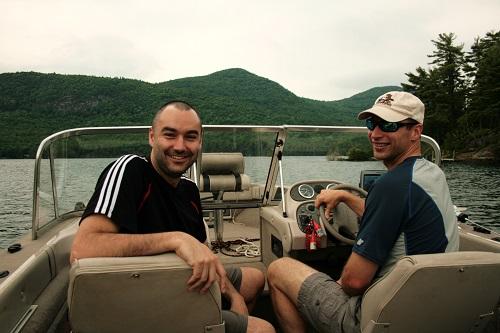 paseo en bote en lake george, nueva york