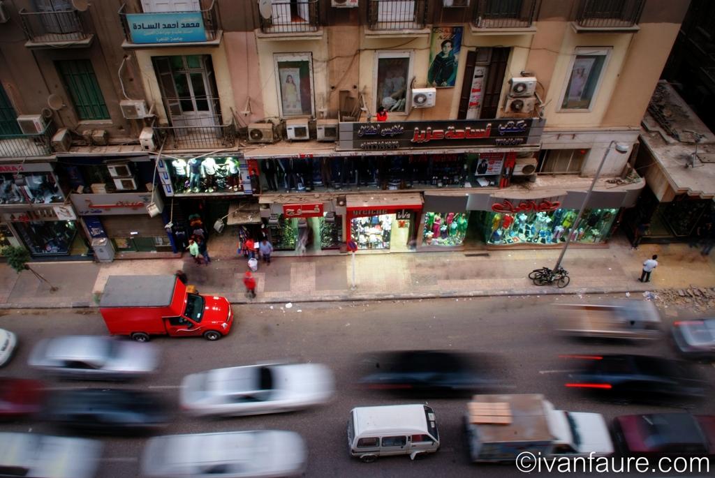 tráfico en el cairo