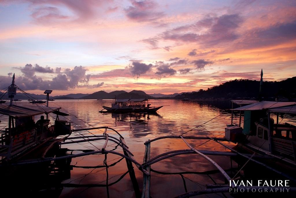 puesta de sol coron palawan