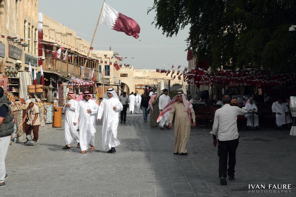 Calle principal del zoco de Doha