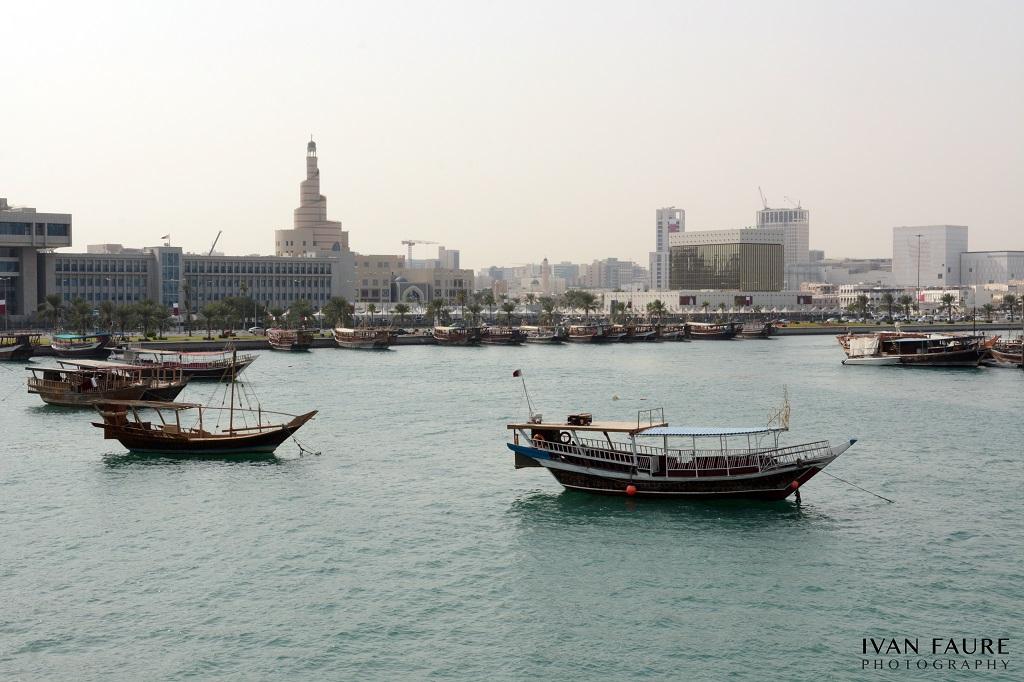 El paseo marítimo de Doha, llamado Corniche