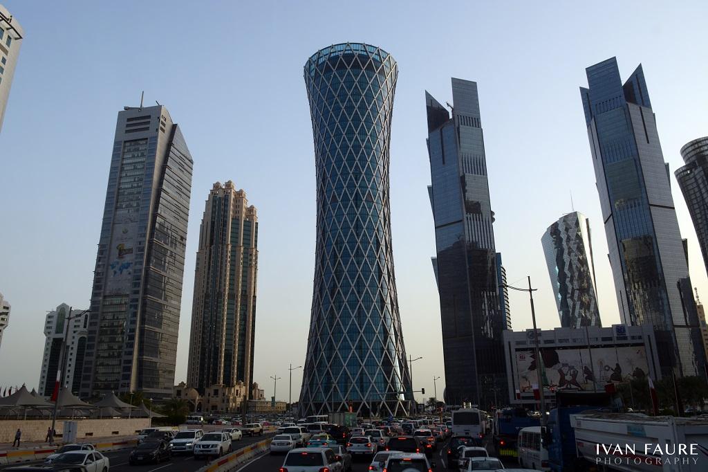 Centro financiero de Doha desde el Dohabus