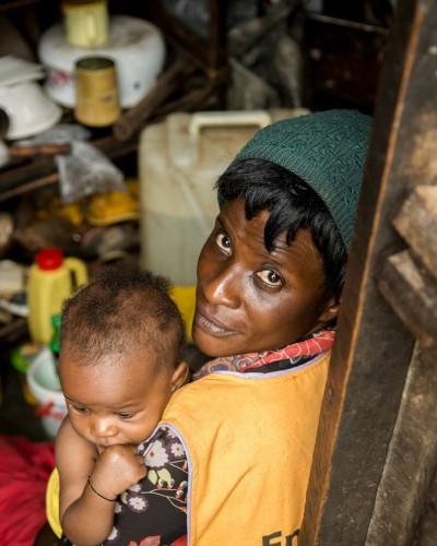 Slum Namuwongo en Uganda